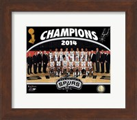 San Antonio Spurs 2014 NBA Champions Team Photo Fine-Art Print