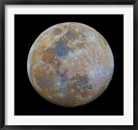 The almost full Moon in color Fine-Art Print