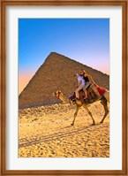 Camel ride, Great Pyramids, Cairo, Giza Plateau, Egypt Fine-Art Print