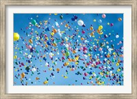 Holiday balloons drifting into the sky Fine-Art Print