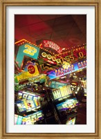 Double exposure, casino signs, Reno, Nevada Fine-Art Print