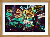 Double exposure, casino signs, Las Vegas, Nevada. Fine-Art Print