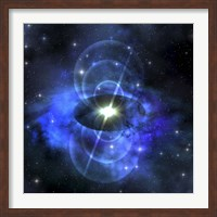 A brilliant star sends out magnetic waves out into surrounding space Fine-Art Print