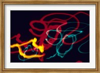 Red, Yellow and Green Neon Lighting with Nightzoom Fine-Art Print