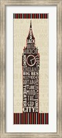 London City Words II Border Fine-Art Print