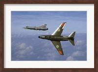 Saab J 32 Lansen and Saab 35 Draken fighters of the Swedish Air Force Historic Flight Fine-Art Print
