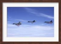Saab JA 37 Viggen and Saab JAS 39 Gripen fighters of the Swedish Air Force Fine-Art Print