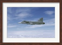 Saab JAS 39 Gripen fighter of the Swedish Air Force Fine-Art Print