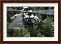 MBB Bo 105 helicopter of the Swedish Air Force Fine-Art Print