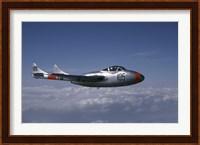 A de Havilland DH 115 Vampire trainer in the air over Sweden Fine-Art Print