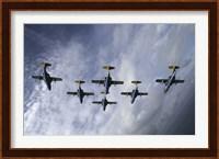 Saab 105 jet trainers of the Swedish Air Force Fine-Art Print