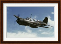 Saab B 17 dive bomber warbird from the Swedish Air Force Fine-Art Print