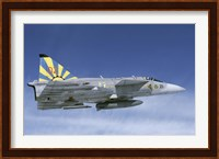Saab JA 37 fighter of the Swedish Air Force Fine-Art Print