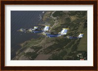 Saab 105 jets flying in formation Fine-Art Print