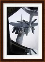 Air refueling a F-15E Strike Eagle of the US Air Force Fine-Art Print