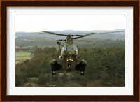 Backside view of an A CH-46 Sea Knight helicopter Fine-Art Print