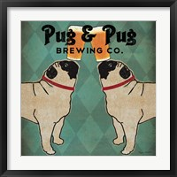 Pug and Pug Brewing Square Fine-Art Print