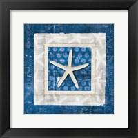 Sea Shell IV on Blue Fine-Art Print
