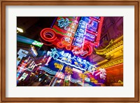 China, Shanghai, Nanjing Road, Neon signs Fine-Art Print