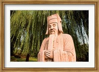 China, Beijing, Ming Dynasty Tombs, Stone statue Fine-Art Print