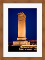 The Monument to the People's Heroes, Tiananmen Square, Beijing, China Fine-Art Print