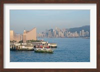 Kowloon ferry terminal and clock tower, Hong Kong, China Fine-Art Print