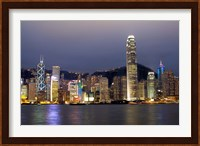 Hong Kong Skyline with Victoris Peak, China Fine-Art Print