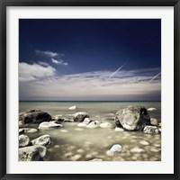 Big boulders in the sea, Liselund Slotspark, Denmark Fine-Art Print