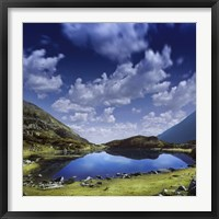 Blue lake in the Pirin Mountains over tranquil clouds, Pirin National Park, Bulgaria Fine-Art Print