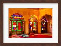 Windows of colored glass, Mehrangarh Fort, Jodhpur, Rajasthan, India Fine-Art Print