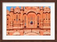 Tourist by Window of Hawa Mahal, Palace of Winds, Jaipur, Rajasthan, India Fine-Art Print
