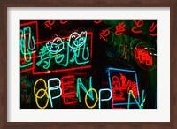 Neon Signs For Sale in Dotombori District Market, Osaka, Japan Fine-Art Print