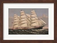 """Clipper Ship """"Three Brothers"""", ca. 1875 Fine-Art Print"""