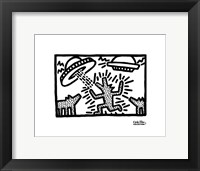 Untitled, 1982 (dogs with UFOs) Fine-Art Print