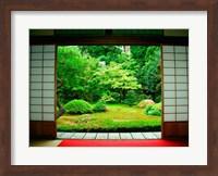 Traditional Architecture and Zen Garden, Kyoto, Japan Fine-Art Print