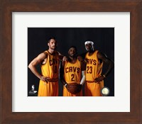 Kevin Love, Kyrie Irving, & LeBron James 2014 Fine-Art Print