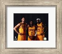 Kevin Love, Kyrie Irving, & LeBron James 2014 Fine-Art Print