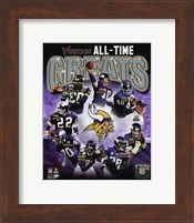 Minnesota Vikings All-Time Greats Composite Fine-Art Print