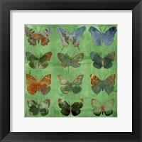 Butterflies on Green Fine-Art Print