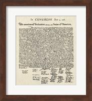 Declaration of Independence Doc. Fine-Art Print