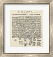 Declaration of Independence Doc. Fine-Art Print