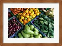 Asia, Singapore. Fresh produce for sale at street market Fine-Art Print