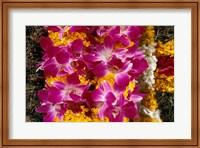 Asia, Singapore. Flowers for sale Fine-Art Print