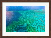 Aerial view of the Great Barrier Reef, Queensland, Australia Fine-Art Print