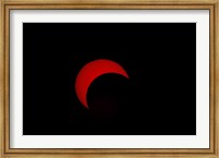Partial Solar Eclipse (red sun) Fine-Art Print