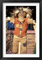 Scarecrow in Suburban Yard at Halloween, Logan, Utah Fine-Art Print