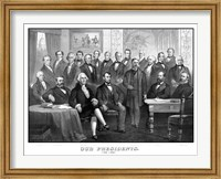 First Twenty-One Presidents Seated Together in The White House Fine-Art Print