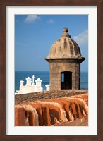 Lookout tower at Fort San Cristobal, Old San Juan, Puerto Rico, Caribbean Fine-Art Print