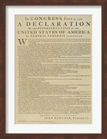 United States Declaration of Independence Fine-Art Print