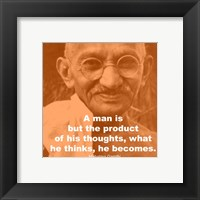 Gandhi - Thoughts Quote Fine-Art Print